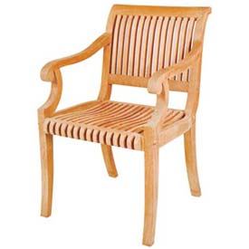 Hi-Teak Outdoor R Armchair, Unfinished Teak Wood by