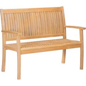 Hi-Teak Outdoor Buckingham Bench, Unfinished Teak Wood