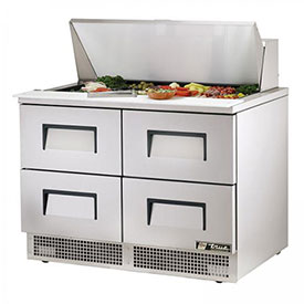"True TFP-48-18M-D-4 Sandwich/Salad Unit 48.13""W X 31-1/2""D X 45-3/4""H by"