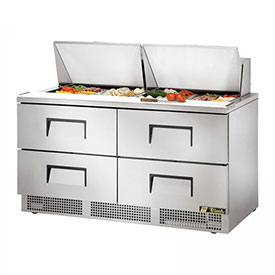 "True TFP-64-24M-D-4 Sandwich/Salad Unit 64.13""W X 31-1/2""D X 45-3/4""H by"