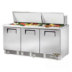 "True TFP-72-30M Refrigerated Sandwich/Salad Unit 72.13""W X 31-1/2""D X... by"