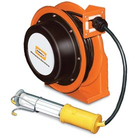 Hubbell GCA16335-FL Industrial Duty Cord Reel with Fluorescent Hand Lamp - 16/3c x 35'