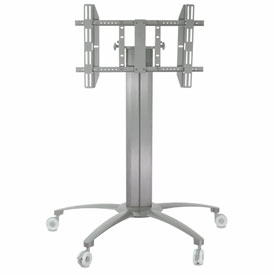 "TygerClaw LCD8502 Mobile TV Stand for 32""-55"" TVs - Silver"