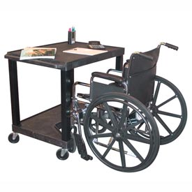 """Tuffy Increased Access Workstation - 32""""W x 24""""D x 34""""H Black"""