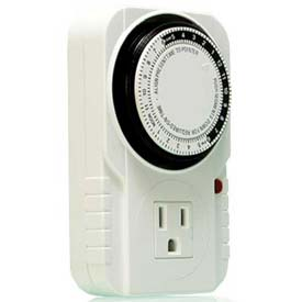 Hydrofarm Analog Grounded Timer, 24 Hour, 15 Amp, 1725W by