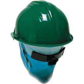 ComfitWear® Hard Hat With Ratchet Nape Strap, Polyethylene, Blue - Pkg Qty 20