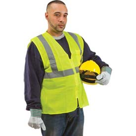 ComfitWear Class 2 Safety Vest, Neon Yellow, PVC Coated, L Package Count 12 by
