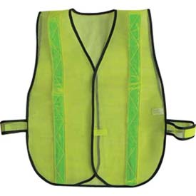 ComfitWear Safety Vest, Lime, Polyester, One Size Package Count 12 by