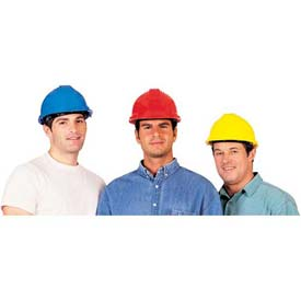 ComfitWear Hardhat For Head Protection, Polyethylene, Red Package Count 20 by