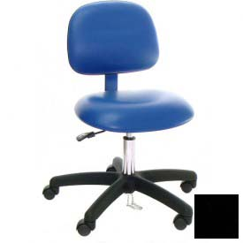ESD-Safe Vinyl Chair with Nylon Base with Drag Chain Black