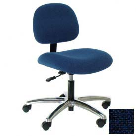 Heavy Duty Fabric Chair with Aluminum Base Navy
