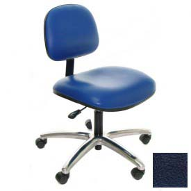 Heavy Duty Vinyl Chair with Aluminum Base Navy