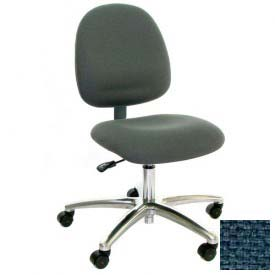 Mid Back Conductive Fabric Chair with Aluminum Base Blue