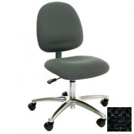 Mid Back Conductive Fabric Chair with Aluminum Base Charcoal