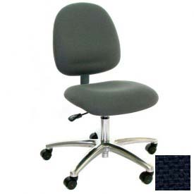 Mid Back Conductive Fabric Chair with Aluminum Base Navy