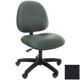 Heavy Duty High Back Vinyl Chair with Nylon Base Black