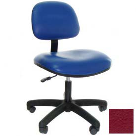 Heavy Duty Vinyl Chair with Nylon Base Burgundy