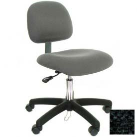 Low Back Conductive Fabric Chair with Nylon Base & Drag Chain Charcoal