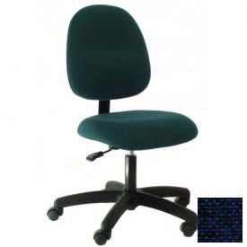 Heavy Duty Mid Back Fabric Chair with Nylon Base Navy