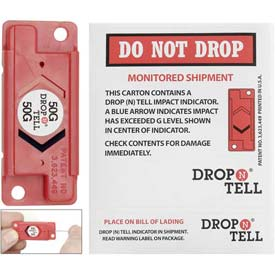 Resettable Drop-N-Tell Indicator, 100g Range, Robust, Sturdy Products - Pkg Qty 25