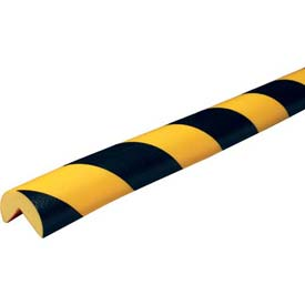 "Knuffi 90-Degree Corner Bumper Guard, Type A, 196-3/4""L x 1-9/16""W, Black & Yellow, 60-6700"
