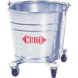 Impact Bucket 26 Qt W/ 2 In Casters Galvanized Steel Oval, 260 by