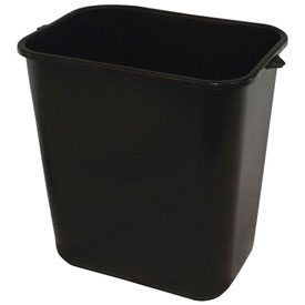 Impact Pinch'M Rectangular Soft-Sided Plastic Wastebasket-28 Qt., Black, 7702-5 - Pkg Qty 24