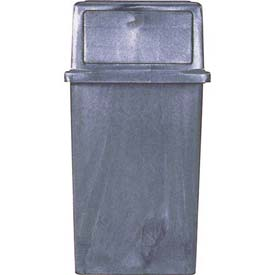 White® Vanguard® Receptacle - 45 Gal. Plastic, Brown, 8750-4