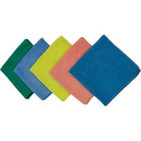 Impact® Microfiber Cloth For Glass - Blue, 16 X 16, Lfk100 - Pkg Qty 48