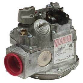 "Gas Valve - 1"" Inlet, Straight-Thru Side Outlets, 3.5"" W.C. Nat. Gas"