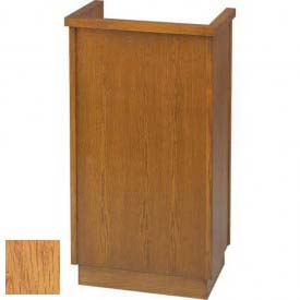 # 301 Single Pulpit, Light Oak Stain
