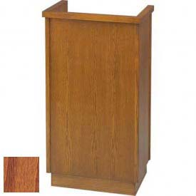 # 301 Single Pulpit, Medium Oak Stain