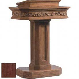 # 5402 Pedestal Pulpit, Dark Oak Stain