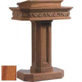# 5402 Pedestal Pulpit, Medium Oak Stain