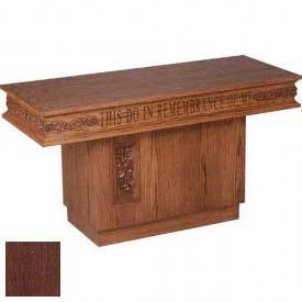 # 560 Pedestal Table, With Carving, Dark Oak Stain