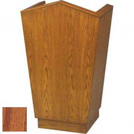 # 701 Single Pulpit, Medium Oak Stain