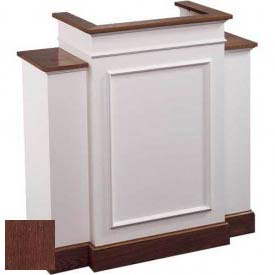 # 810 With Wing Pulpit, Two Tone Colonial White, Dark Oak Stain Trim