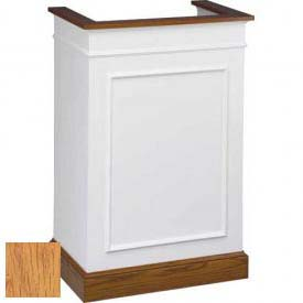 # 811 Single Pulpit, Two Tone Colonial White, Light Oak Stain Trim