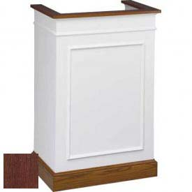 # 811 Single Pulpit, Two Tone Colonial White, Dark Oak Stain Trim