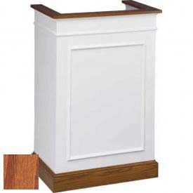 # 811 Single Pulpit, Two Tone Colonial White, Medium Oak Stain Trim