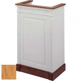 # 821 Single Pulpit, Two Tone Colonial White, Light Oak Stain Trim