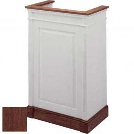 # 821 Single Pulpit, Two Tone Colonial White, Dark Oak Stain Trim