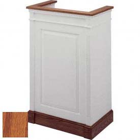 # 821 Single Pulpit, Medium Oak Stain