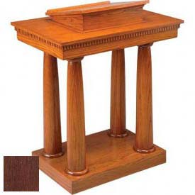 # 8301 Pulpit, Two Tone Colonial White, Dark Oak Stain Trim