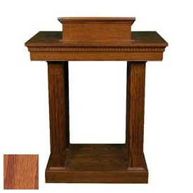 # 8401 Pulpit, Two Tone Colonial White, Medium Oak Stain Trim