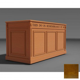 #105 Series Furniture Portable Baptistry, Traditional Oak Stain