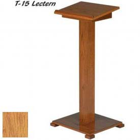 "Lift-lid Lectern, 45""H, Light Oak Stain"
