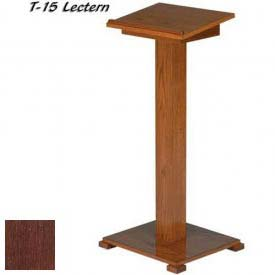 "Lift-lid Lectern, 45""H, Dark Oak Stain"