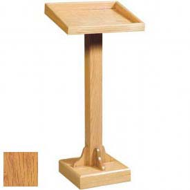 "Recessed Top Lectern, 45""H, Light Oak Stain"