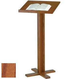 "Cross Base Lectern, 45""H, Medium Oak Stain"